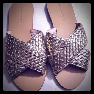 Loeffler Randall Claudie Metallic Woven Sandals